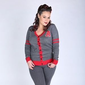 Sweaters - Letterman cardigan riverdale pinup sweater